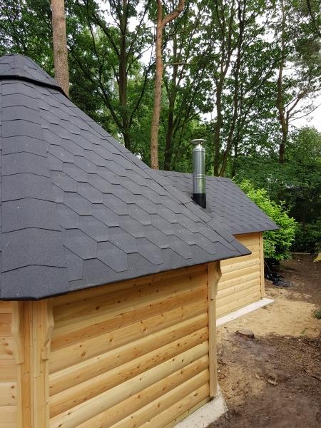 Bouw van cottage en sauna